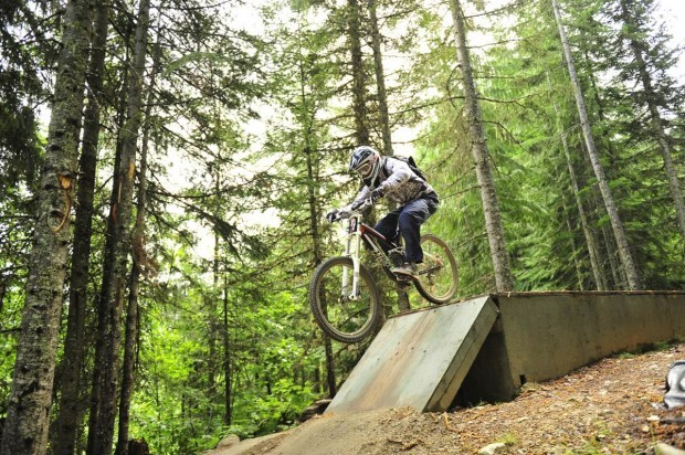 Jase from ridemorebikes.com in the Whistler MTB Park