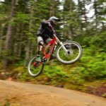 Simmone Lyons on B-Line in the Whistler Bike Park