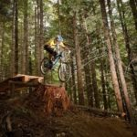 Dom Wrapson riding Fade to Black in Whistler