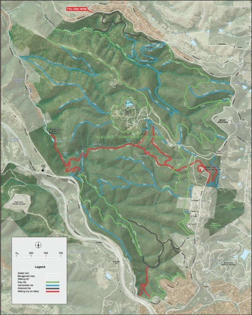 Mountain Biking in Cleland Conservation Park Map