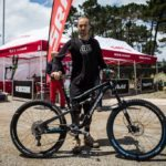 Nico Vouilloz running a chain guide with his SRAM XX1 drivetrain