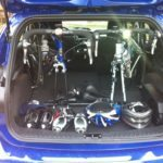 Ford Focus Hatch fits Road Bikes Inside Standing up!