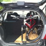 Honda Fit Mountain Bike in Boot Standing Up