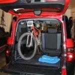 Mountain Bike Inside Honda Element with Front Wheel On