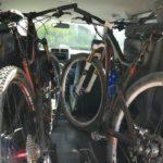 Mountain Bikes Inside a Honda Element