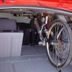Toyota Matrix with a bike inside