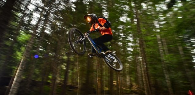 Riding in Whistler Bike Park