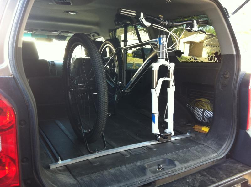 Best car for mountain bikers ride more bikes Nissan xterra bike rack interior