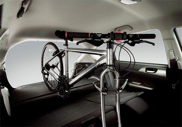 Subaru Impreza Hatch with Bicycle Inside